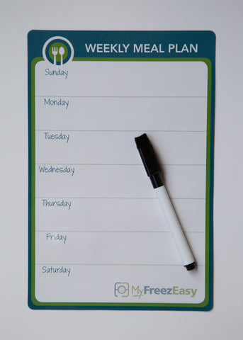 Weekly Meal Planner - Magnetic White Board