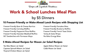 20 Meals for $150 - Work & School Lunches