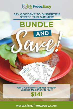 Summer Freezer Meal Plan Bundle - Instant Pot, Slow Cooker & Grilled Meal Plans