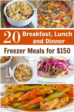 20 Meals for $150 - The Breakfast, Lunch, Dinner Plan