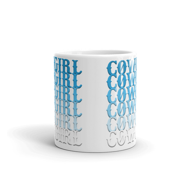 The Cowgirl Blues Mug (white)