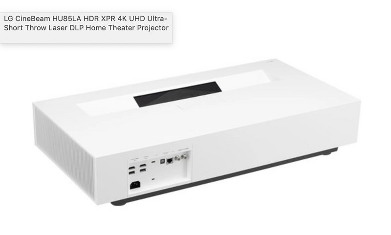 LG HU85LA Ultra Short Throw 4K UHD Laser Smart Home Theater Cinebeam Projector with Thinq Ai