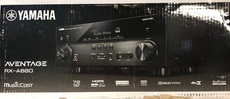 Yamaha AVENTAGE RX-A680 7.2-channel home theater receiver with Wi-Fi, Bluetooth,