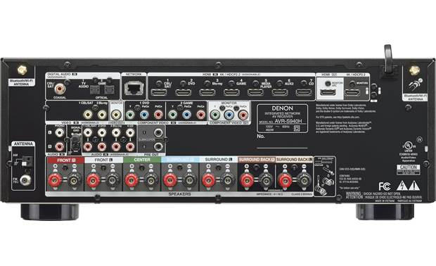 Denon AVR-S940H 7.2-CH Home Theater Network A/V Receiver (AVRS940H)