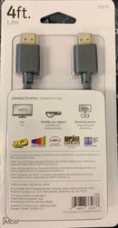 GE 4ft HDMI UltraHD 4K Cable - Gold Connectors