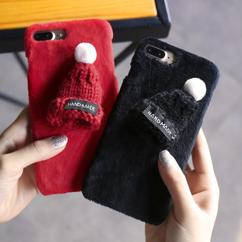 Knitted Beanie Plush iPhone Case
