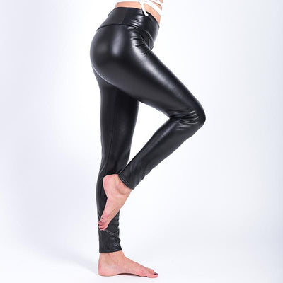 Winter Faux Leather Leggings