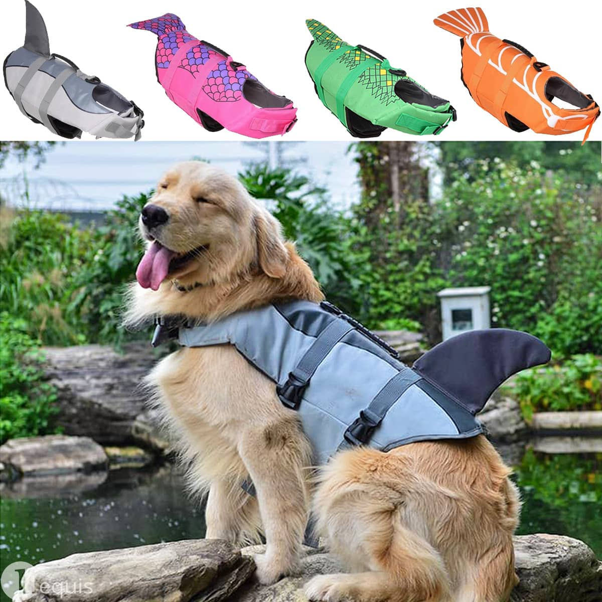 Dog Life Jacket w/ Handle