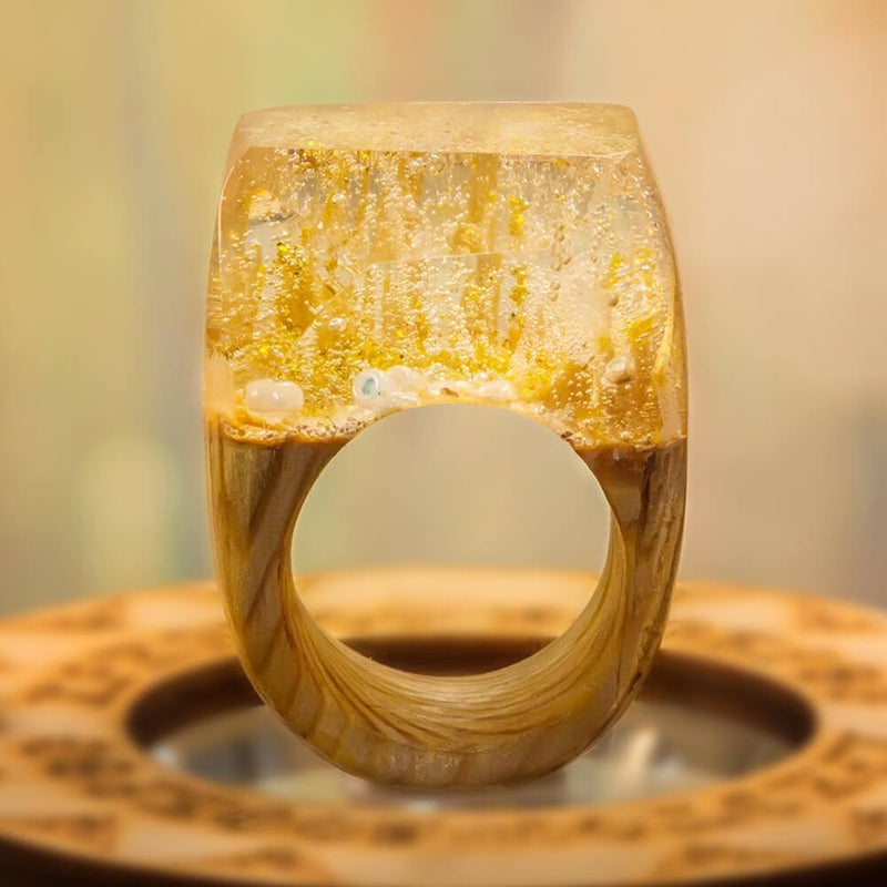 Authentic Waters Wooden Resin Ring