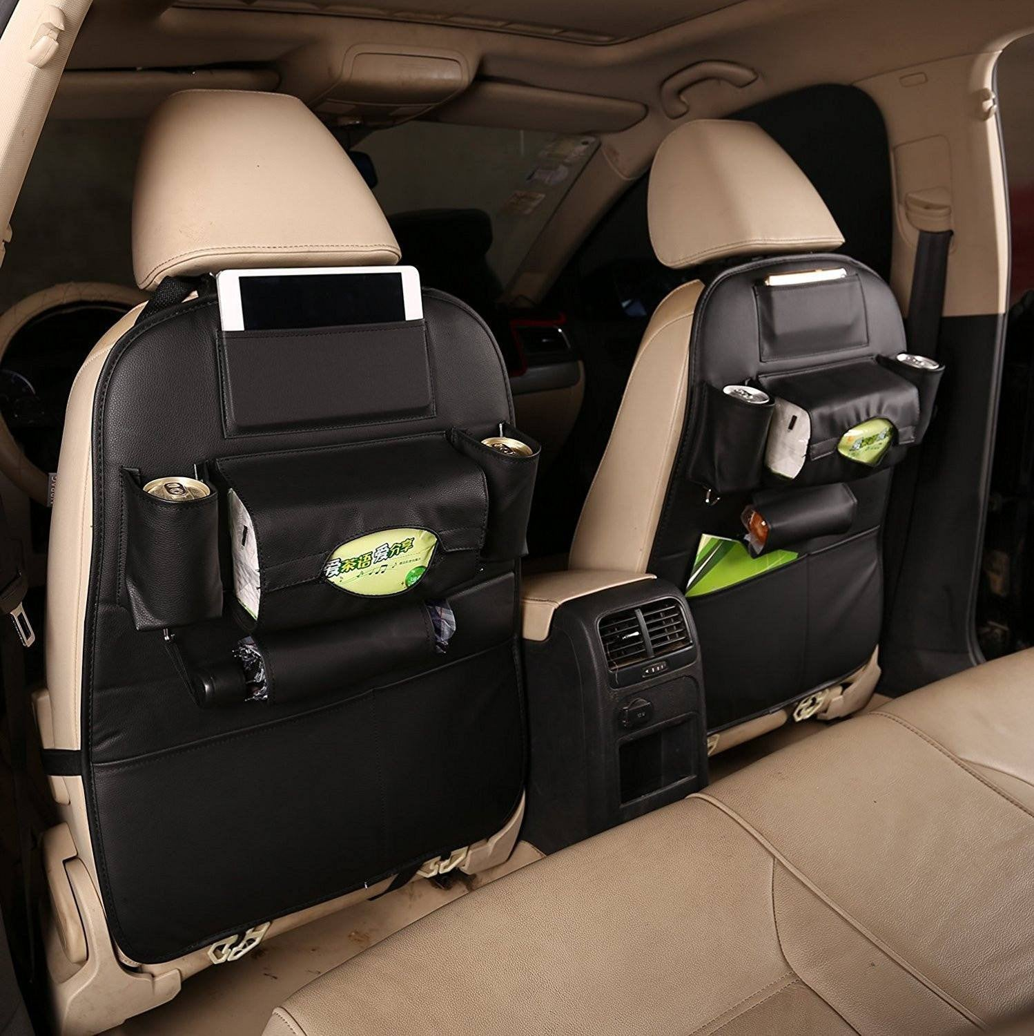 Premium Car Seatback Organizer (PU Leather)