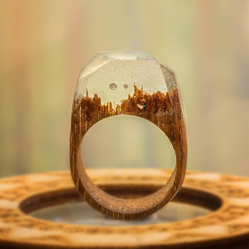 «Crystal» Wooden Resin Ring
