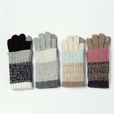 Knitted Touchscreen Foldable Winter Gloves