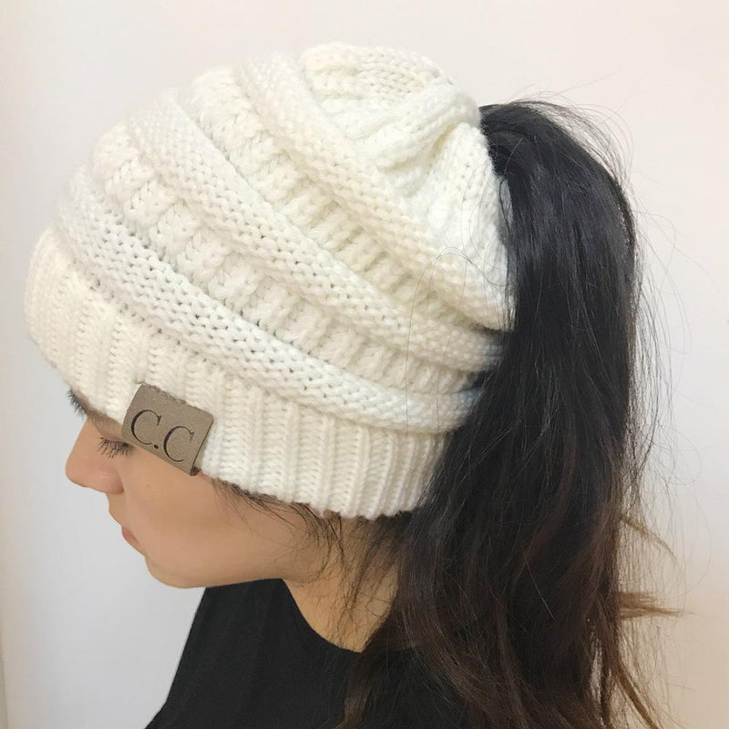 Winter Soft Knitted «BeanieTail» Hat