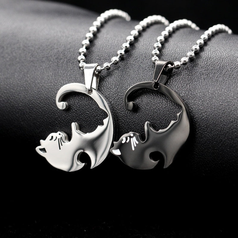 Yin & Yang Cat Necklace