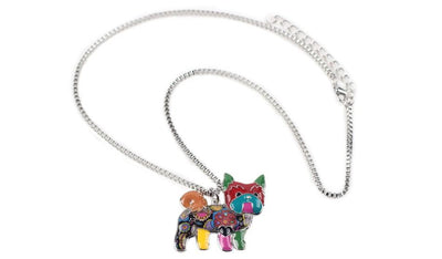 Colorful Yorkie Necklace