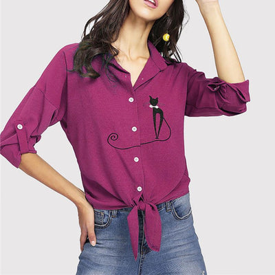 Cat Tail Summer Blouse