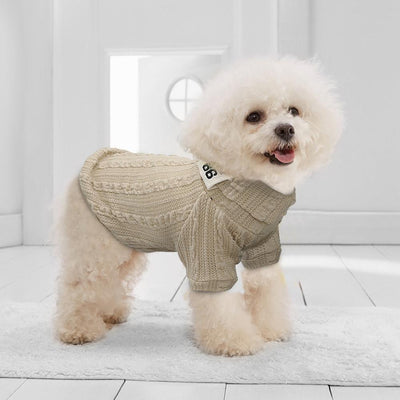 Turtleneck Knit Dog Sweater