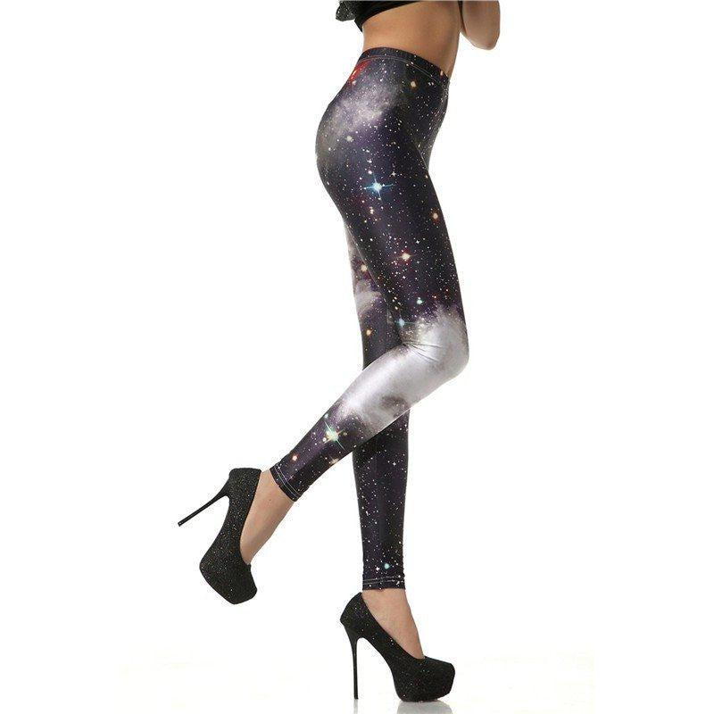 B&W Galaxy Leggings