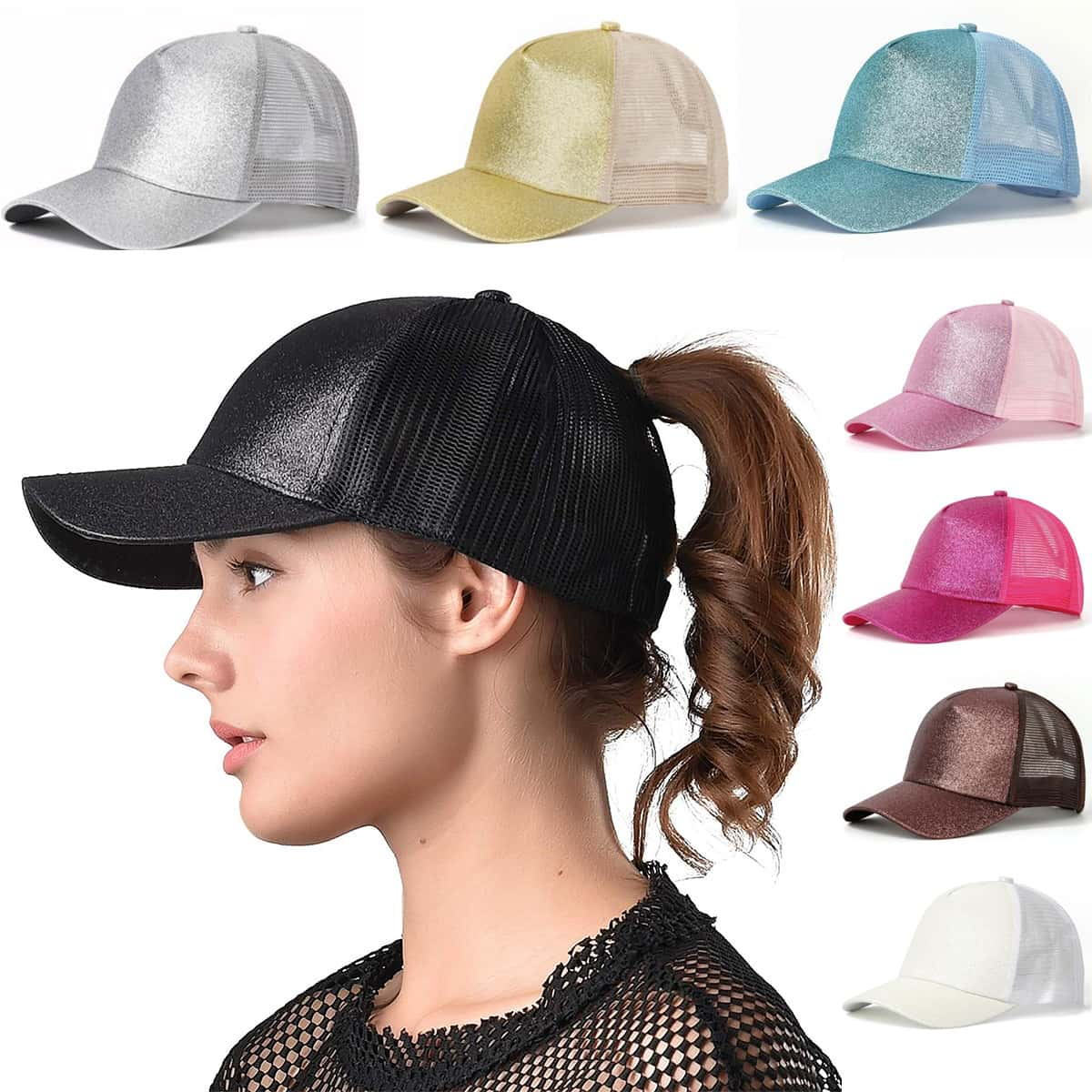 High Ponytail Baseball Cap