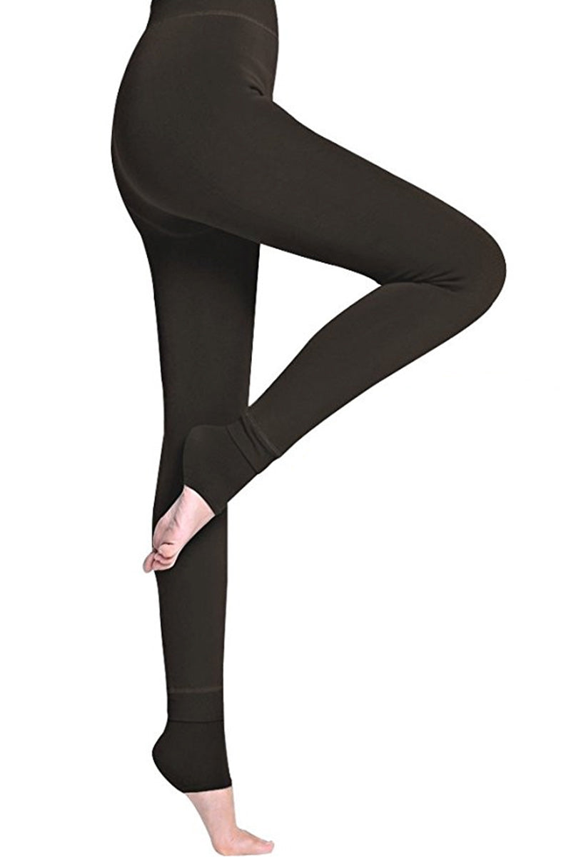 Nequis Winter Fleece Lined Leggings Black