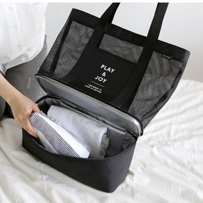 2-in-1 Beach Tote Bag w/ Cooler