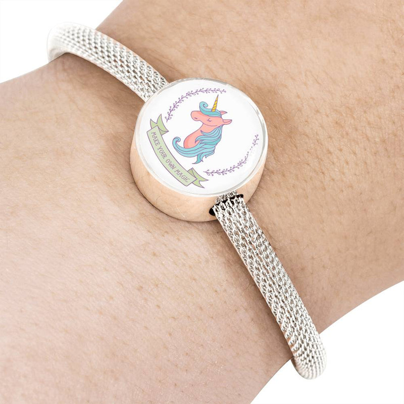 «Make Your Own Magic» Unicorn Luxury Steel Bracelet