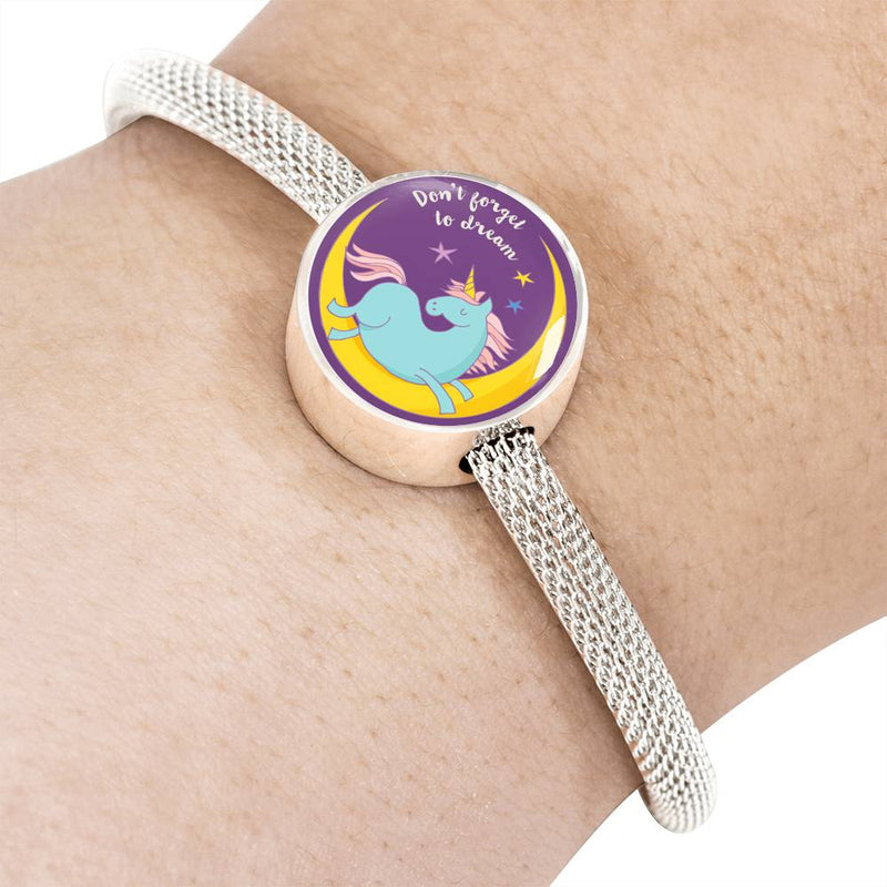 «Don't Forget To Dream» Unicorn Luxury Steel Bracelet