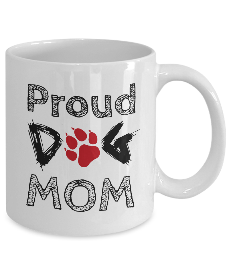 «Proud Dog Mom» Coffee Mug