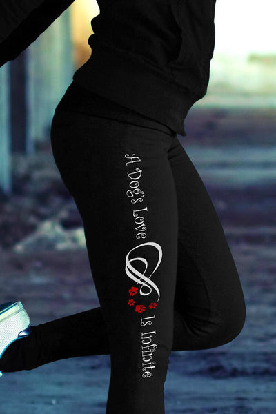 A Dog's Love Is Infinite v.2 Leggings