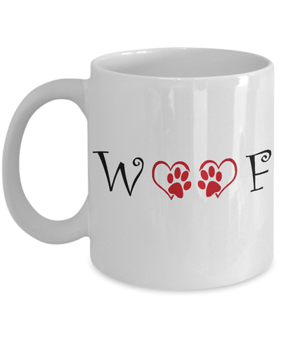 «WOOF» Coffee Mug (White)