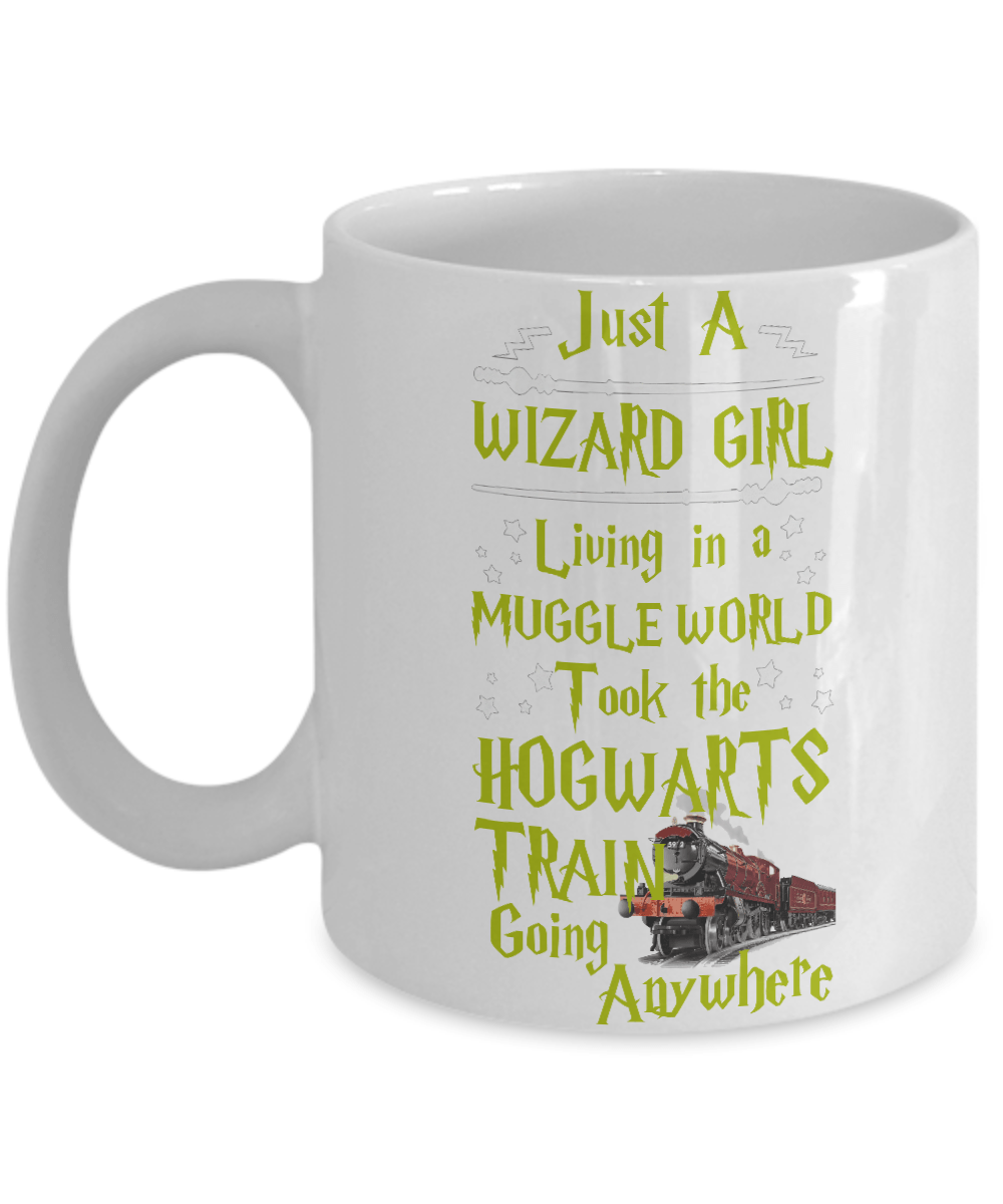 «Just A Wizard Girls In A Muggle World» Coffee Mug (White)