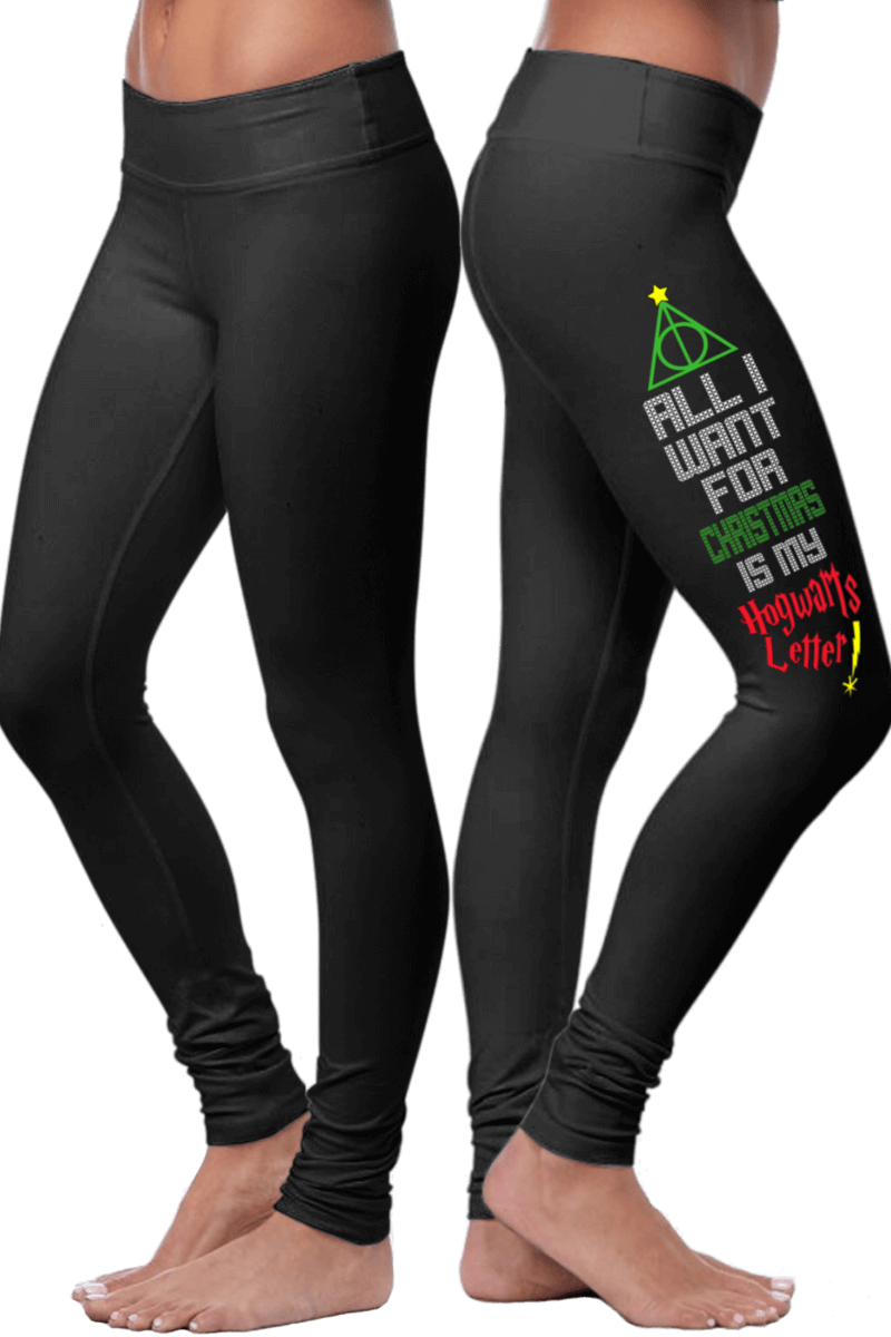 «All I Want For Christmas Is My Hogwarts Letter!» Leggings