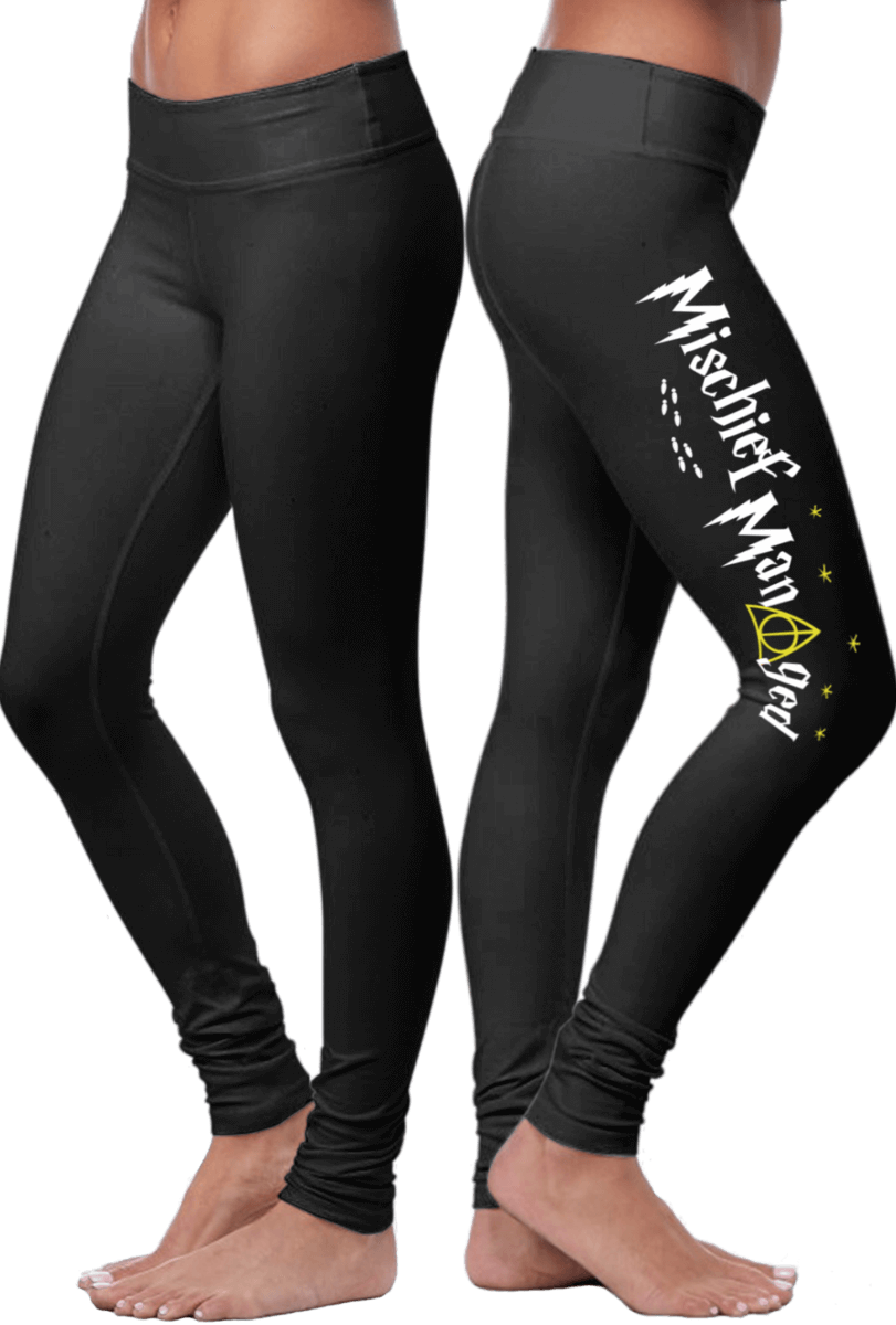 4cb94afb3d Mischief Managed – Harry Potter Inspired Leggings - Nequis Store