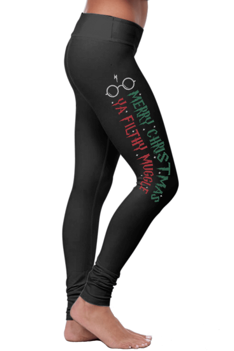 Merry Christmas Ya Filthy Muggle Leggings