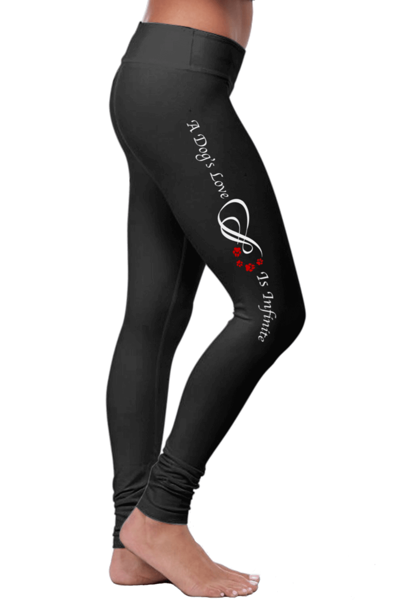 Dog-themed premium leggings (A Dog's Love Is Infinite)