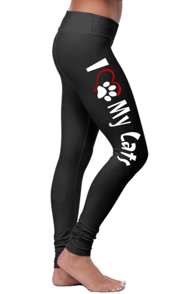 «I Love My CatS» Leggings