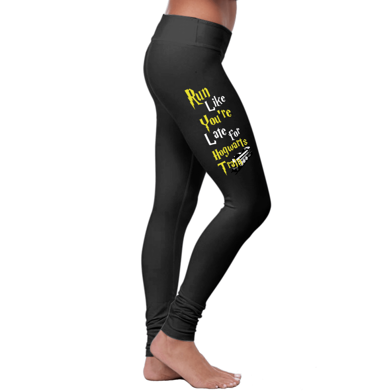 «Run Like You're Late For Hogwarts Train» Leggings