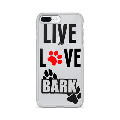 «Live, Love, Bark» iPhone 5S/6/6S/7/7Plus/8/8Plus/X Case
