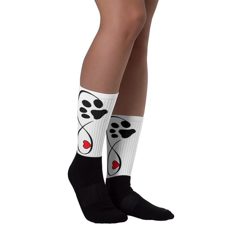 «Infinite Pet's Love» black foot socks