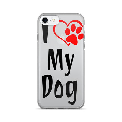«I Love My Dog» iPhone 7/7 Plus Case
