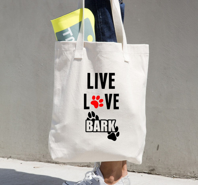 «Live, Love, Bark» Tote bag