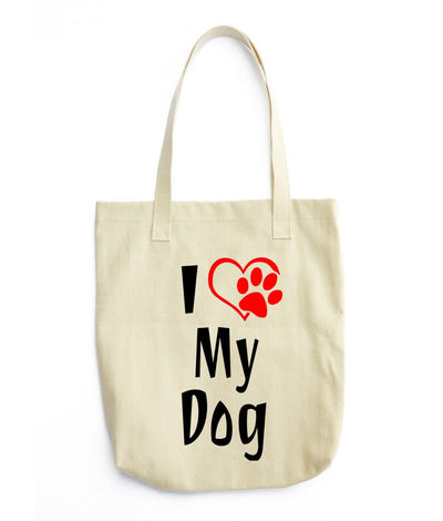«I Love My Dog» Tote Bag