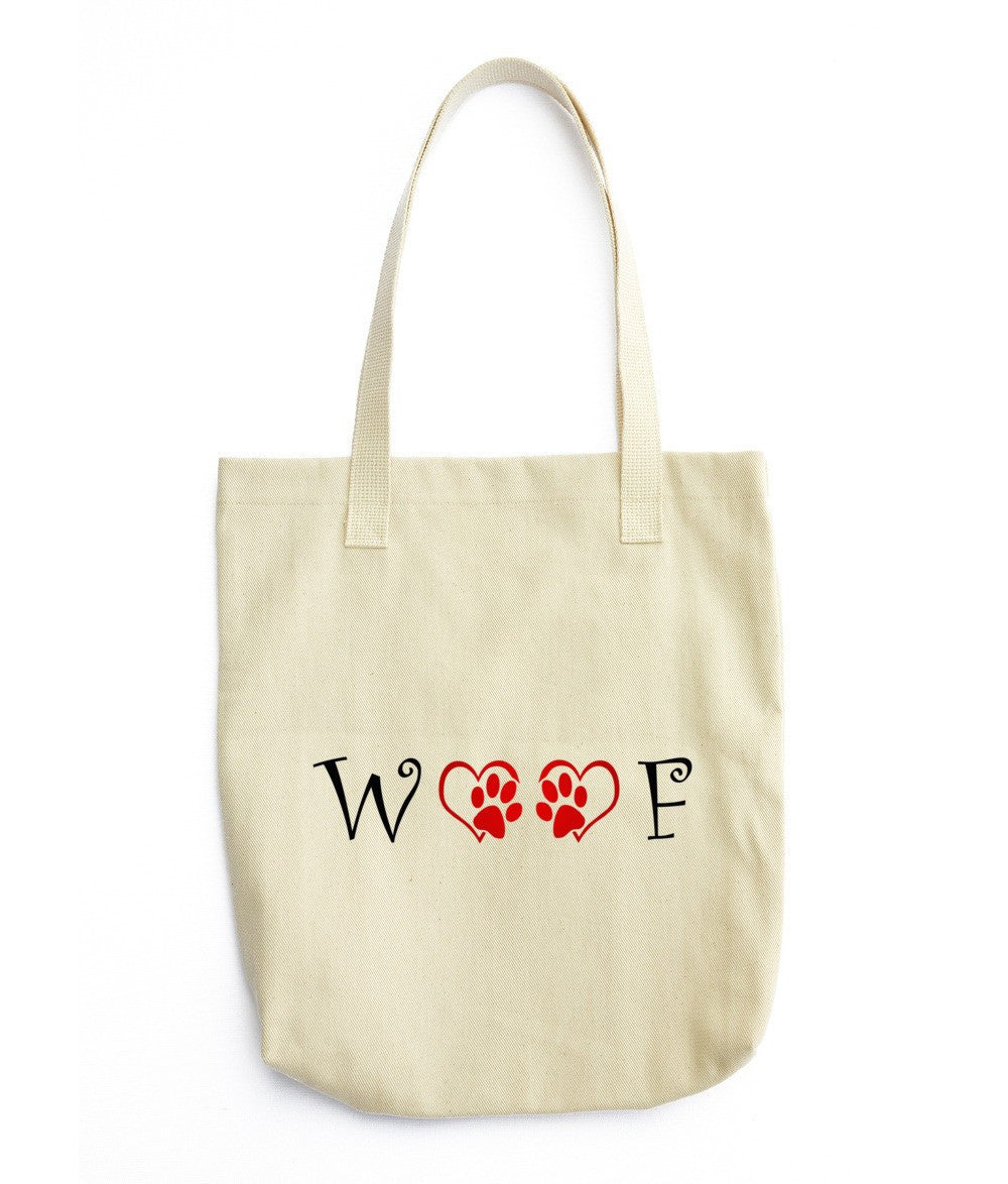 «WOOF» Tote bag (double side print)