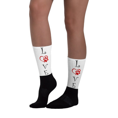 «LOVE» black foot socks