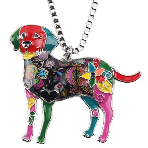 Colorful Labrador Necklace