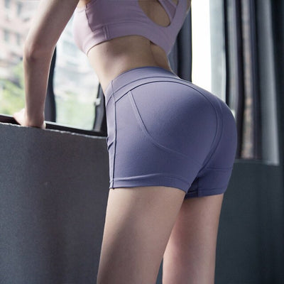 High Waist Push-Up Fitness Shorts