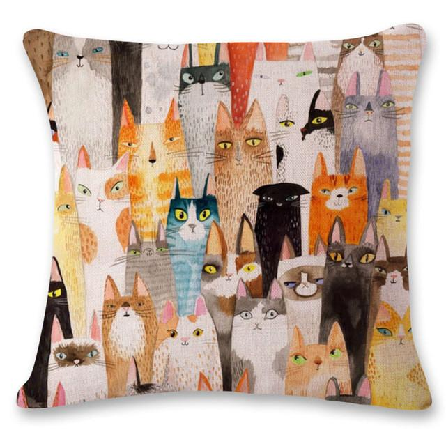 Cartoon Cats Pillowcase