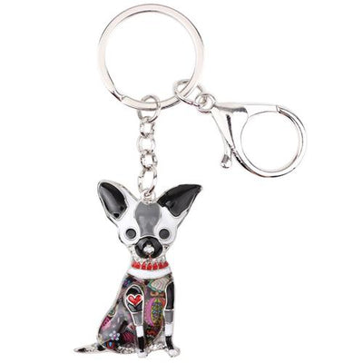 Colorful Chihuahua Keychain