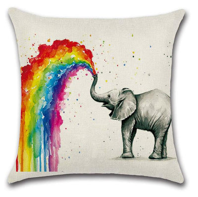 Rainbow Fauna Pillowcase