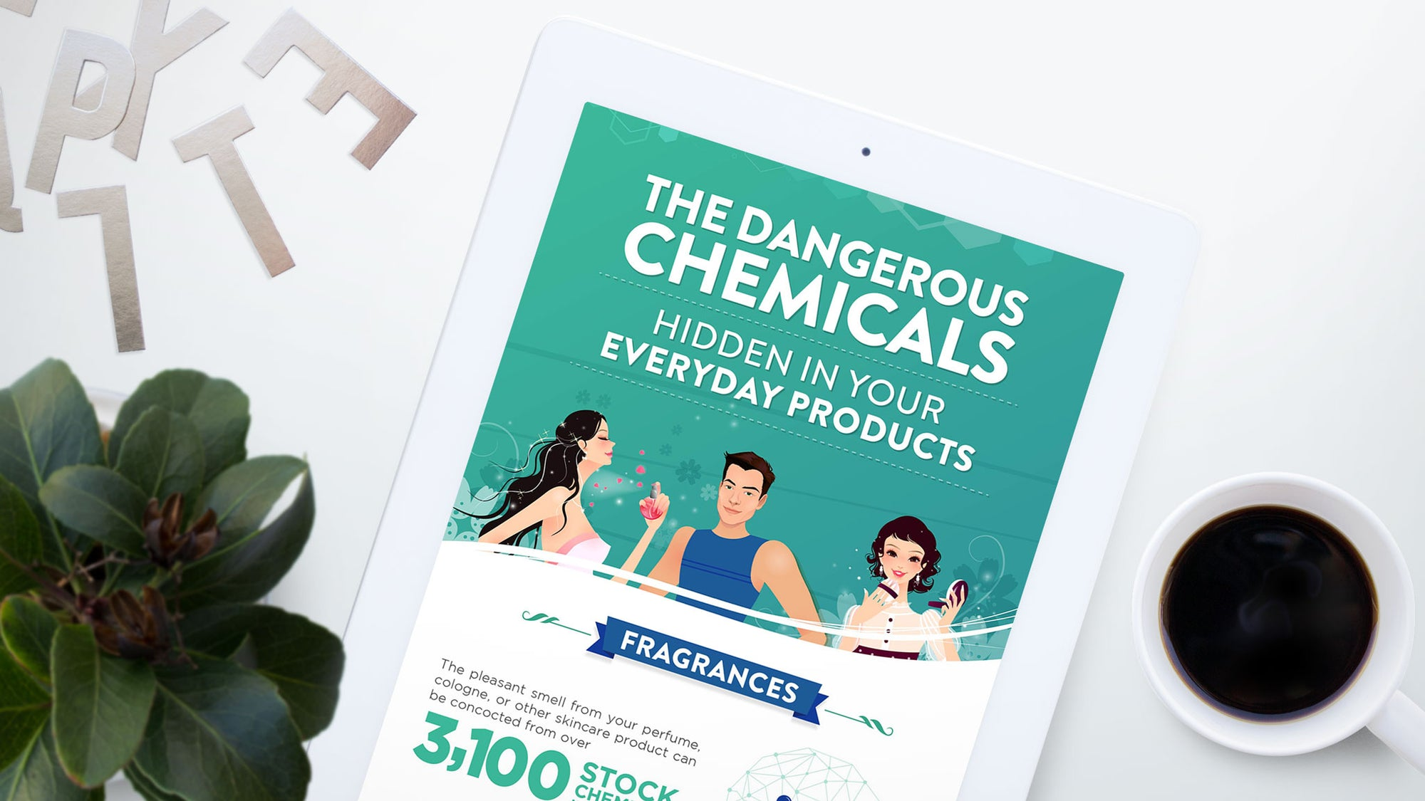 Harmful Chemicals in Health Products Infographic
